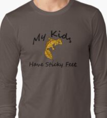 My Kids Have Sticky Toes Satanic Leaftail Gecko Long Sleeve T-Shirt