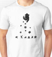 Camiseta ajustada Las rocas caen, todos los dados