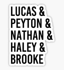 One Tree Hill Characters Sticker