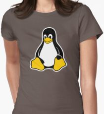 Linux Tux Women's Fitted T-Shirt