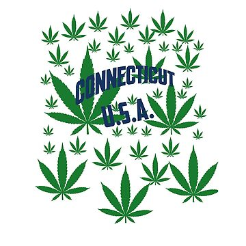 Connecticut  Marijuana Cannabis Weed Connecticut by MarijuanaTshirt