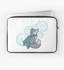 Swirling Snow Fox Laptop Sleeve