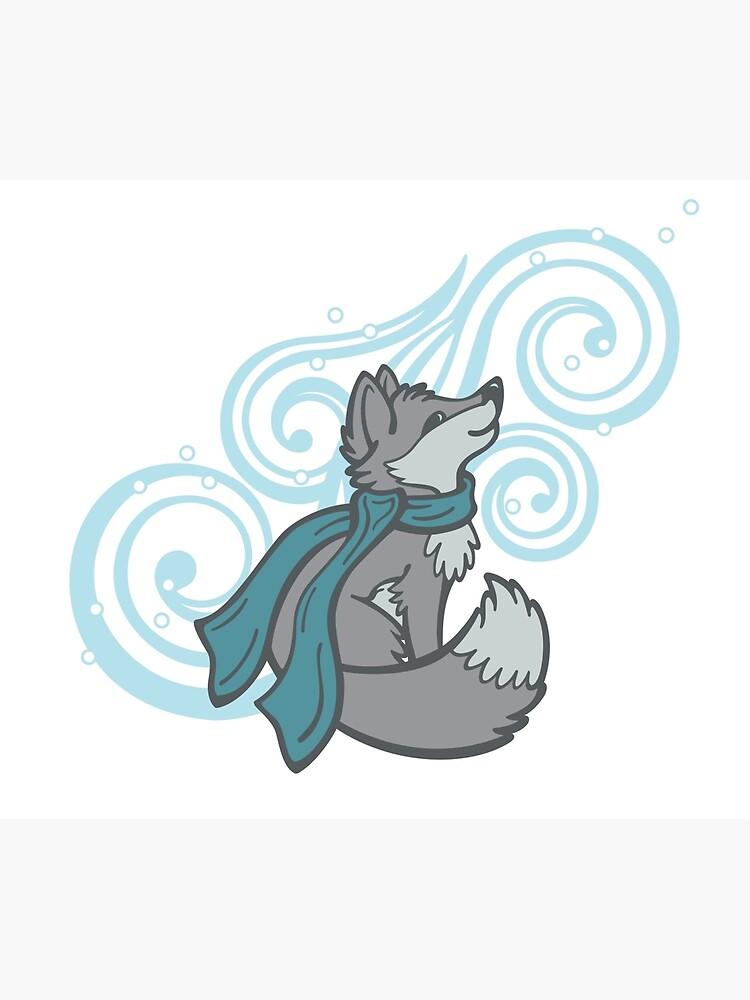 Swirling Snow Fox by CGafford