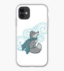 Swirling Snow Fox iPhone Case