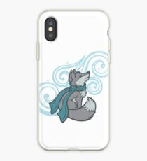 Swirling Snow Fox iPhone Case