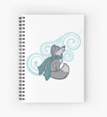 Swirling Snow Fox Spiral Notebook