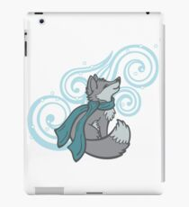 Swirling Snow Fox iPad Case/Skin