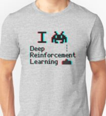 I heart deep reinforcement learning (8-bit 3D) Unisex T-Shirt