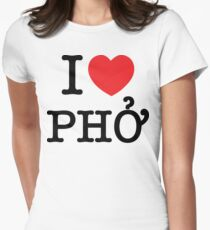 I Heart (Love) Phở Womens Fitted T-Shirt