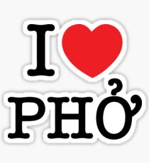 I Heart (Love) Phở Sticker