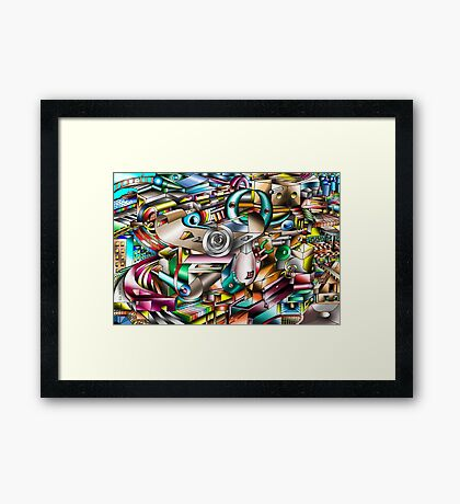 The illusion of City life Framed Print