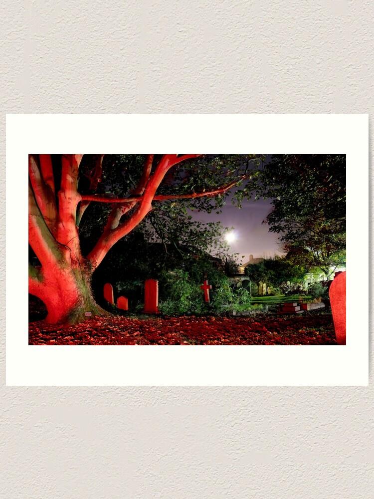 Alternate view of Graveyard at Midnight Art Print