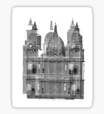 St. Paul's Cathedral Sketch Sticker
