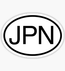 JPN Oval sticker Sticker