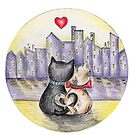 I love you (Cats in New York) II by nelinda