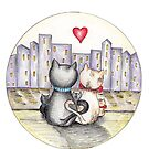 I love you (Cats in New York) III by nelinda