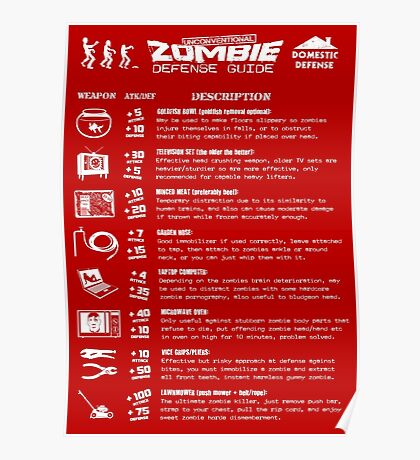 Zombie Defense Guide Poster