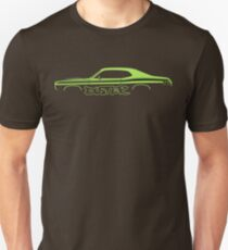 Car silhouette for Plymouth Duster 340 lime green enthusiasts T-Shirt