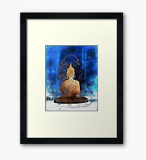 Buddha Blueprint Modern Buddhist Art Framed Print