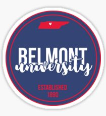 Belmont University - Style 17 Sticker