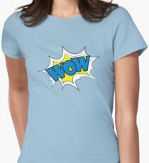 Wow Comic sound effects in pop art style. Womens Fitted T-Shirt