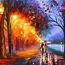 «ALLEY BY THE LAKE - Leonid Afremov» de Leonid Afremov