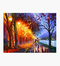 ALLEY BY THE LAKE - Leonid Afremov Photographic Print