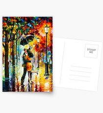 Tanz unter dem Regen - Leonid Afremov Postkarten