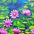 Waterlillies in Japanese Gardens by marlene veronique holdsworth