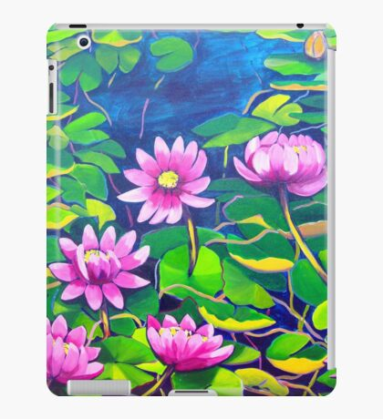 Waterlillies in Japanese Gardens iPad Case/Skin