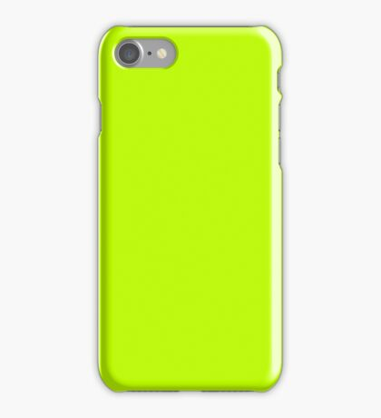 Bitter lime neon green yellow iPhone Case/Skin