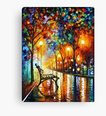 THE LONELINESS OF AUTUMN - Leonid Afremov Canvas Print