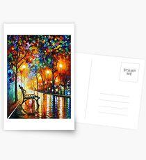 THE LONELINESS OF AUTUMN - Leonid Afremov Postcards