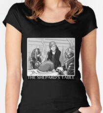 Mass Effect - The Shepard's Table Women's Fitted Scoop T-Shirt