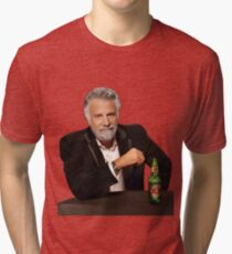 Dos Equis Man - The Most Interesting Man In The World Meme Tri-blend T-Shirt