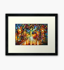 FAREWELL TO ANGER - Leonid Afremov Framed Print