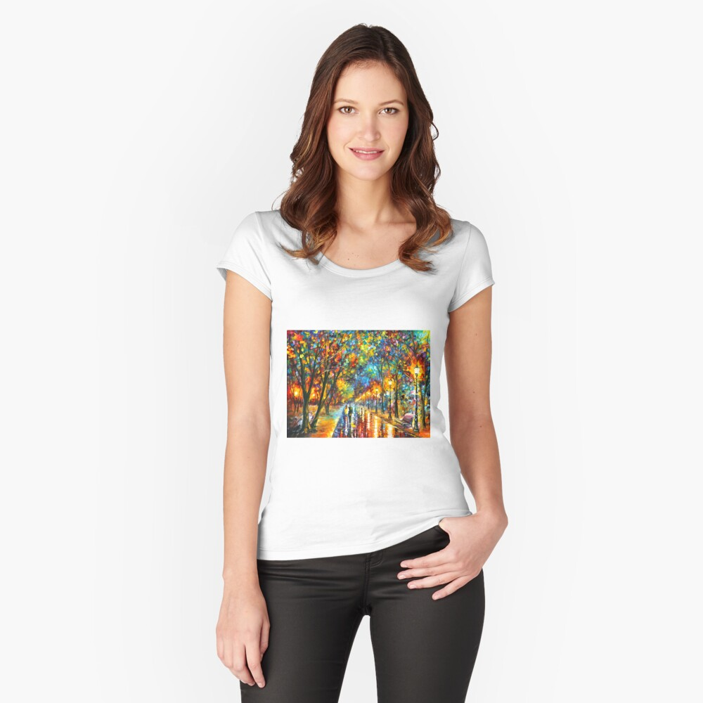 WHEN THE DREMS CAME TRUE - Leonid Afremov Fitted Scoop T-Shirt
