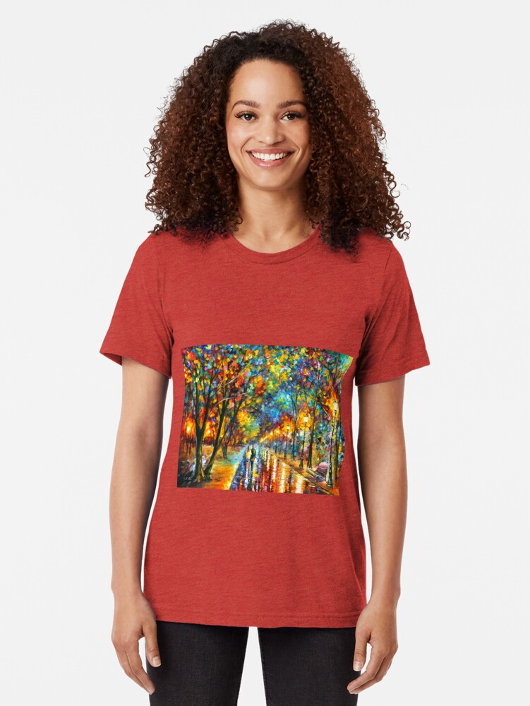 Alternate view of WHEN THE DREMS CAME TRUE - Leonid Afremov Tri-blend T-Shirt