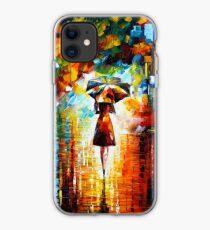 rain princess - Leonid Afremov iPhone Case