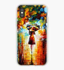 Regenprinzessin - Leonid Afremov iPhone-Hülle & Cover