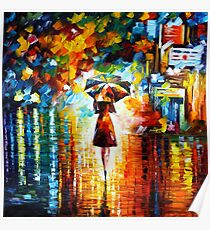 rain princess - Leonid Afremov Poster