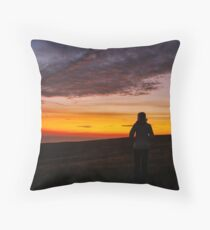 Witnessing a Donegal Sunset Throw Pillow