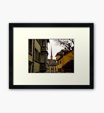 Colour in Zurich Rennweg Framed Print