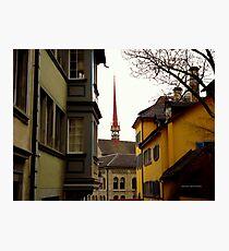 Colour in Zurich Rennweg Photographic Print