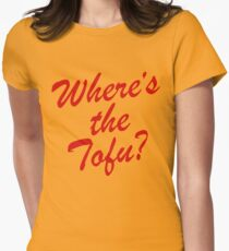 Wheres The Tofu Women's Fitted T-Shirt