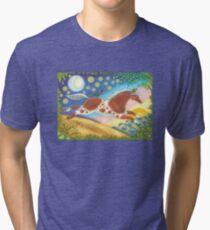 MUSTANG ON WILD HORSE HILL Tri-blend T-Shirt