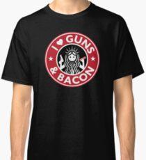 I Heart Guns and Bacon Star Love Bucks Classic T-Shirt