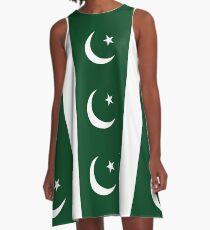 Pakistan Flag A-Line Dress