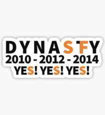DYNASTY San Francisco Giants 10 12 14 Yes Yes YES 3 World Series  Sticker