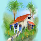 Cottage in a Tropical Palm Paradise by Rasendyll